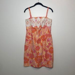 Vintage Lilly Pulitzer Dress l Orange Yellow Pink